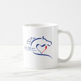 避難所のカスタマイズ可能な青いロゴのマグ-! コーヒーマグカップ