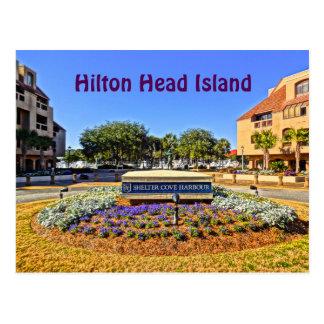 避難所の入江港及びマリーナHilton Head Island ポストカード