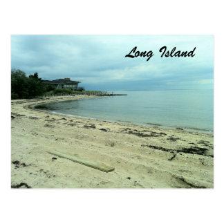 避難所の島、NYのビーチ ポストカード