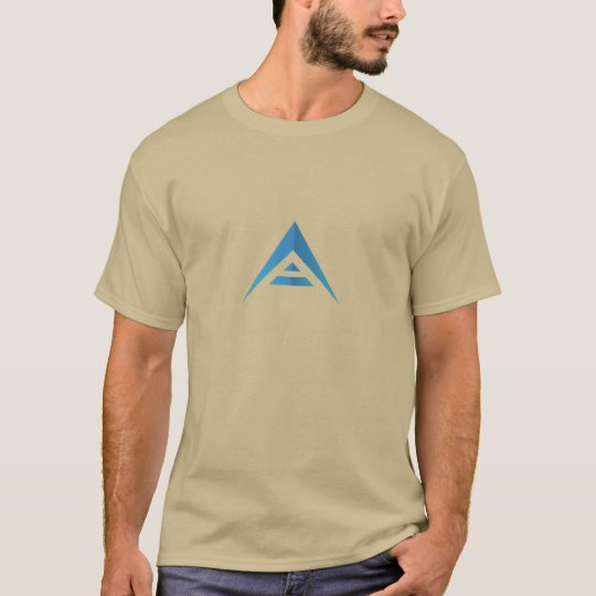 避難所の硬貨(青いロゴ)のTシャツ Tシャツ