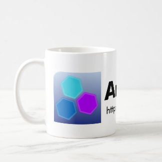 避難所のLinuxのマグ(ロゴ+URL) コーヒーマグカップ