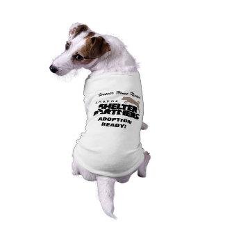 避難所はロゴカスタムな犬のティーと組みます ペット服