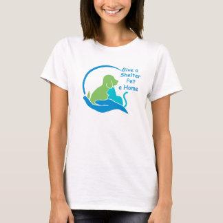 避難所ペットに家を与えて下さい Tシャツ