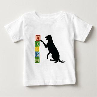 避難所ペットを採用して下さい ベビーTシャツ