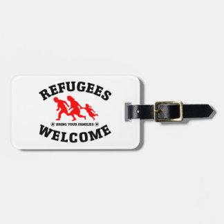 避難者の歓迎はあなたの家族を持って来ます ラゲッジタグ