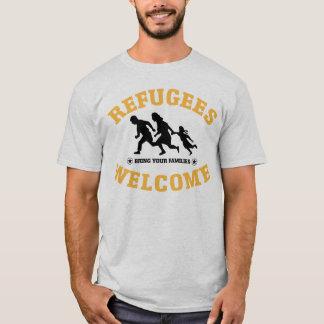 避難者の歓迎はあなたの家族を持って来ます Tシャツ