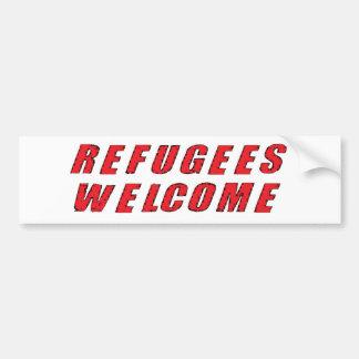 避難者の歓迎 バンパーステッカー