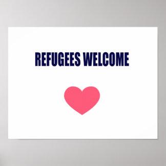 避難者の歓迎 ポスター