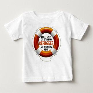 避難者はベビーのジャージーのTシャツを歓迎します ベビーTシャツ