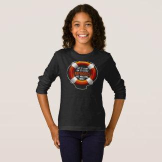避難者は女の子の暗い長袖のTシャツを歓迎します Tシャツ