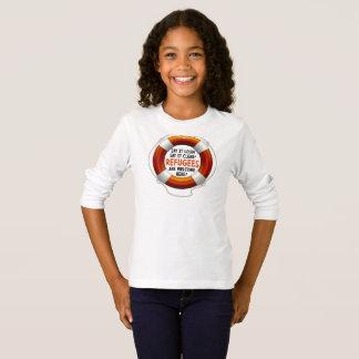 避難者は女の子の長袖のTシャツを歓迎します Tシャツ
