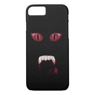 邪悪で赤い鬼の目及び血の吸血鬼の牙 iPhone 7ケース