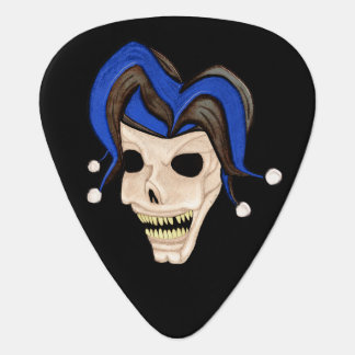 邪悪なこっけい者のスカル(青い) ギターピック