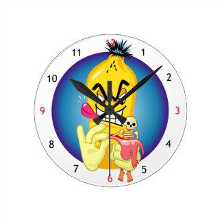 邪悪なバナナの皮 ラウンド壁時計