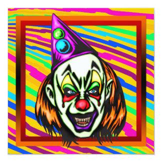 邪悪なピエロのハローウィンパーティの招待状 カード