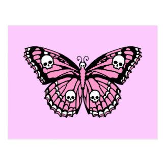 邪悪なピンクの蝶 ポストカード