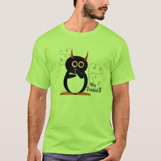 邪悪なペンギンだれPootedか。 Tシャツ