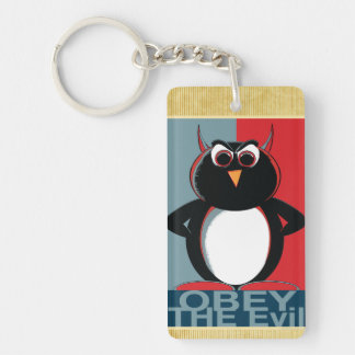 邪悪なペンギンに従って下さい キーホルダー