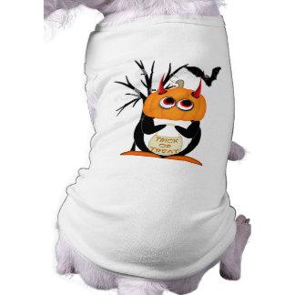 邪悪なペンギンのハロウィン犬のワイシャツ ペット服