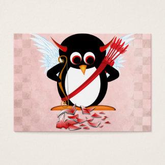邪悪なペンギンのバレンタインカード 名刺