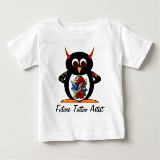 邪悪なペンギンの未来の入れ墨の芸術家 ベビーTシャツ