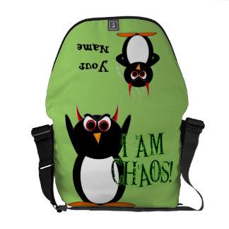 邪悪なペンギンの無秩序の人力車のメッセンジャーバッグ メッセンジャーバッグ