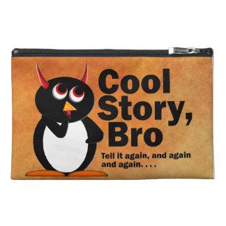 邪悪なペンギンのCool story Bro トラベルアクセサリーバッグ