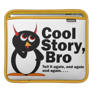 邪悪なペンギンのCool story Bro iPadスリーブ