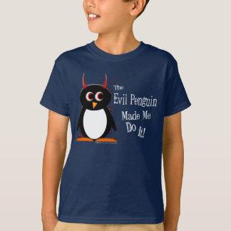 Evil Penguin Made Me KIDS T-shirt