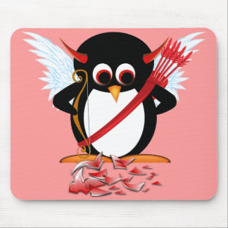 邪悪なペンギンOOPS! バレンタイン マウスパッド