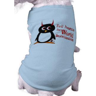 邪悪なペンギンtmはワイシャツの後をつけます ペット服