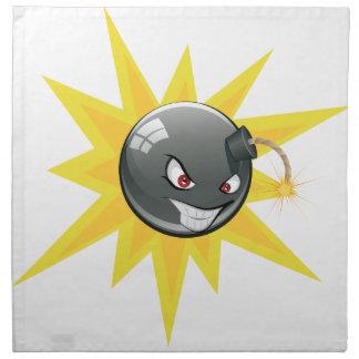 邪悪な円形の爆弾 ナプキンクロス