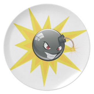 邪悪な円形の爆弾 プレート