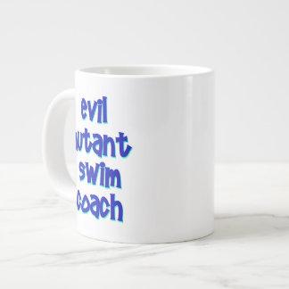 邪悪な突然変異体の水泳のコーチ ジャンボコーヒーマグカップ