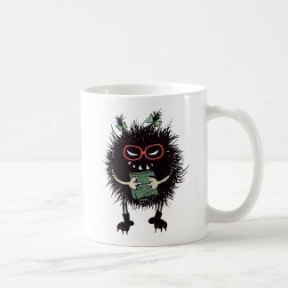 邪悪な虫学生は読むことを愛します コーヒーマグカップ