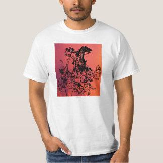 邪悪な馬のライダーおよび子供 Tシャツ