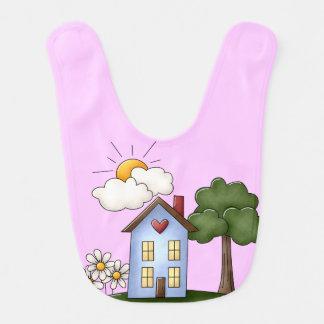 邸宅のピンクの女の子 ベビービブ