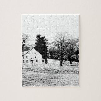 邸宅の背部および白 ジグソーパズル