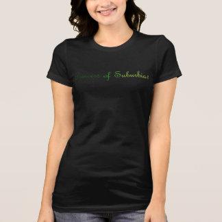 郊外(r)の黒いTシャツのプリンセス Tシャツ
