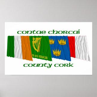 郡コルクの旗 ポスター