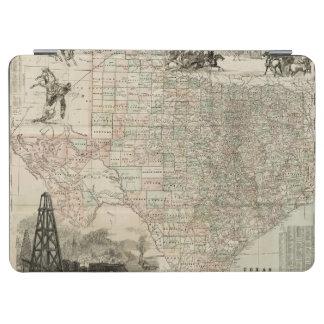 郡ボーダーとのテキサス州の地図 iPad AIR カバー
