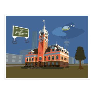 郡庁舎、Merrill、ウィスコンシン ポストカード