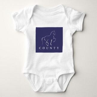 郡SADDLERYの馬場馬術のTシャツ ベビーボディスーツ