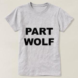 部分のオオカミ Tシャツ