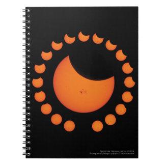部分的な日食のノート ノートブック