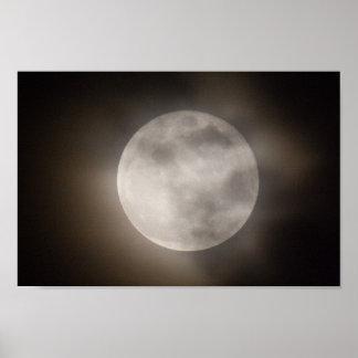 部分的にCloudlyの満月、オハイオ州 ポスター