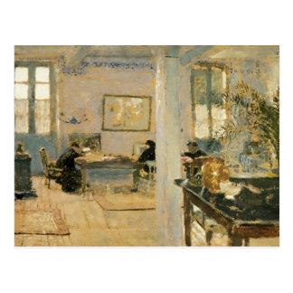 部屋では、1890年代 ポストカード