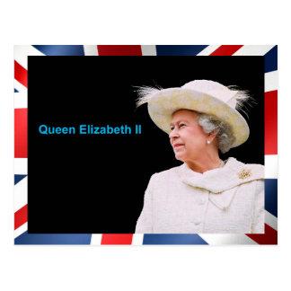 郵便はがきのためのエリザベス女王二世のイメージ ポストカード