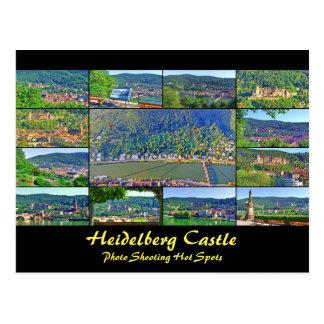 郵便はがきのハイデルベルクの城の写真撮影のホットスポット ポストカード