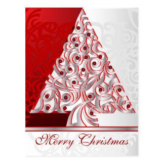 郵便はがきのメリークリスマス ポストカード